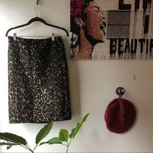 Vintage leopard print textured skirt